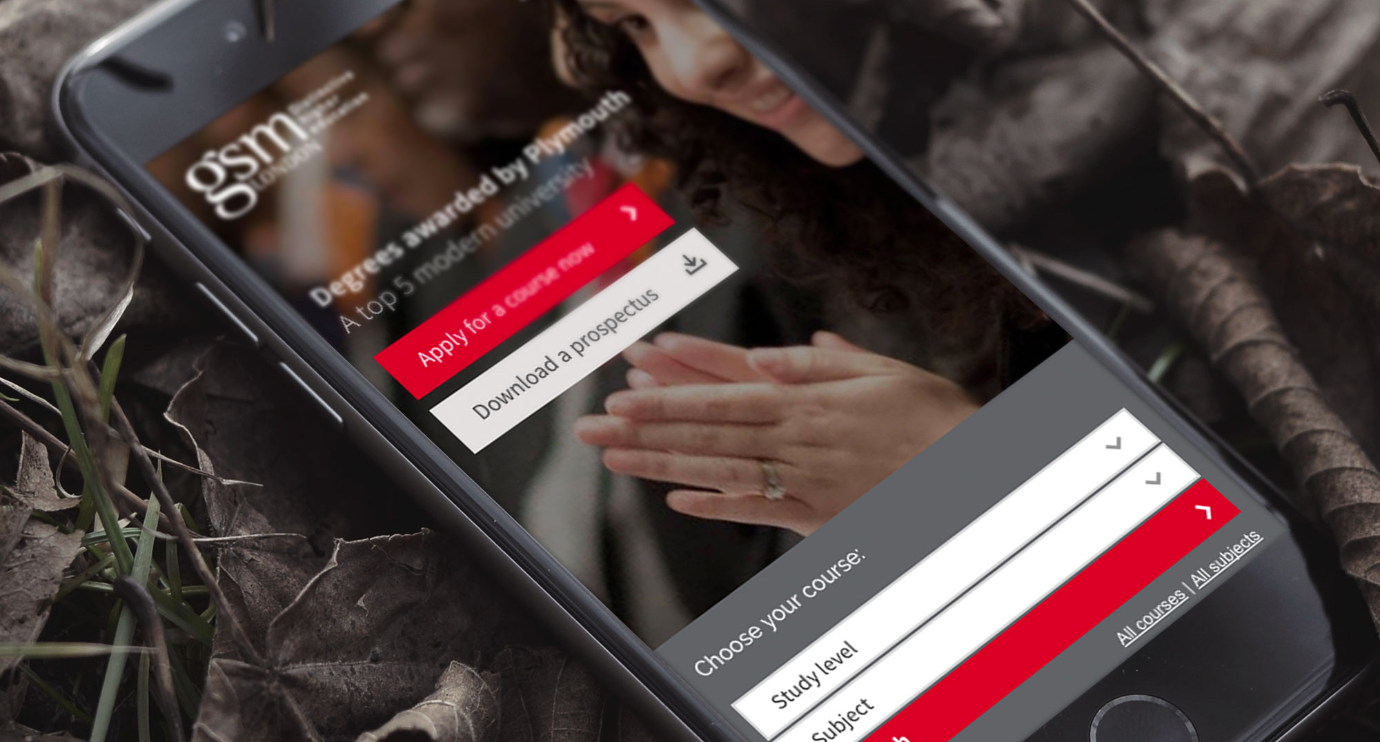 GSM London Responsive Home Page