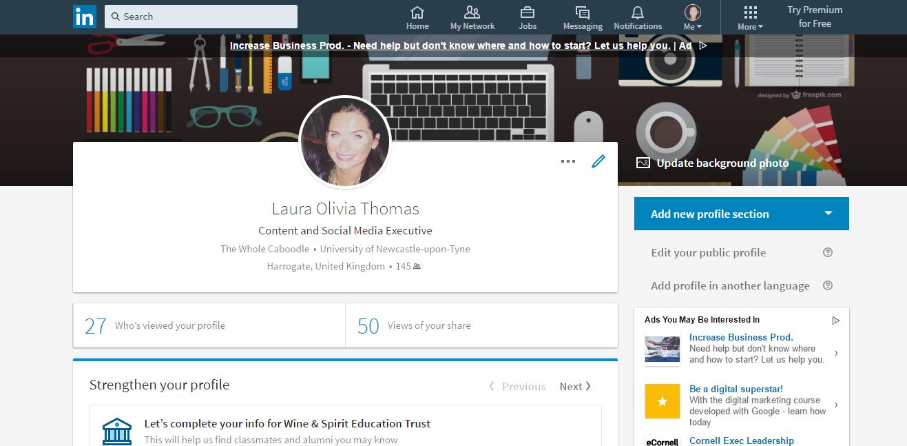 New Profile UI desktop - TWC