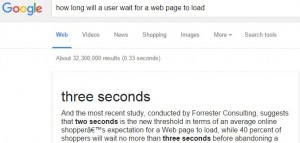 Time Users Will Wait For A Webpage To Load