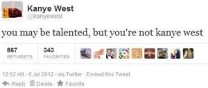 Kanye West funny tweet