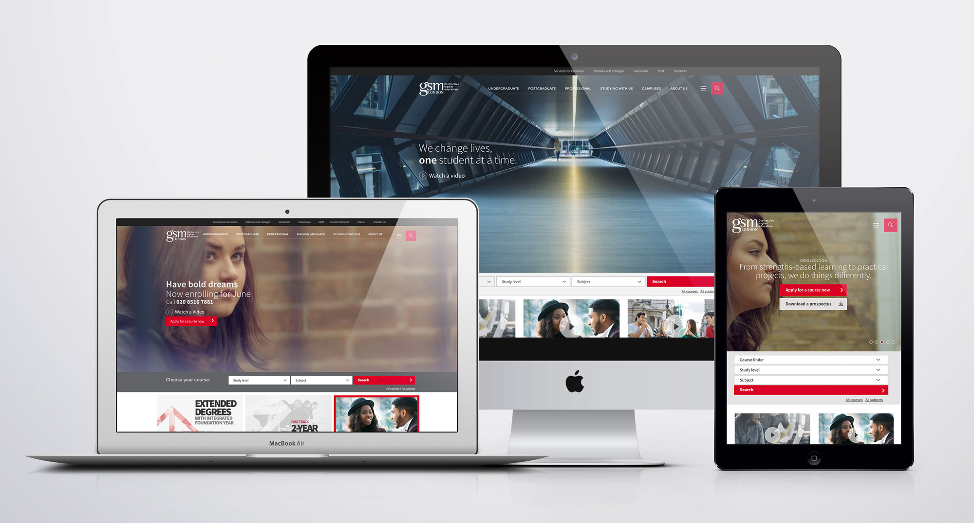Designed, Built & Launched GSM London New Responsive Website